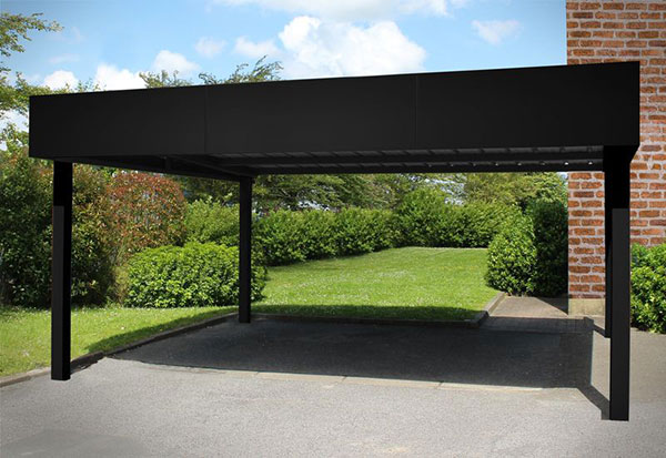 carport en aluminium moderne 2 voitures a toit plat. Black Bedroom Furniture Sets. Home Design Ideas