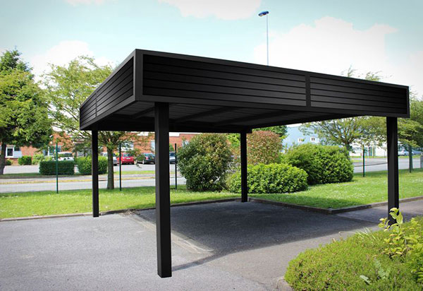 carport en aluminium moderne 2 voitures toit plat auteuil. Black Bedroom Furniture Sets. Home Design Ideas