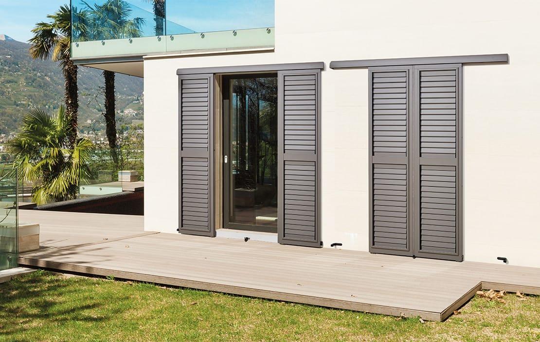 volet en aluminium coulissant gamme el gance. Black Bedroom Furniture Sets. Home Design Ideas